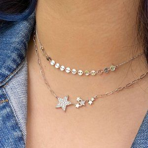Jewelry - Dainty Sequin Section Necklace